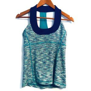 lululemon Scoop Neck Tank Blue Space Dye Size 8